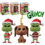 Funko POP! Books Dr Seuss The Grinch Flocked Bundle (3 POPs) - New, Mint - Expected January 2018