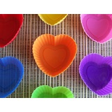 7 x Mini Heart Shaped Muffin Moulds