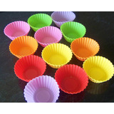 12 x Silicone Mini Muffin Cups