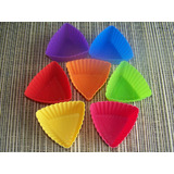 7 x Mini Triangle Shaped Muffin Moulds