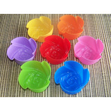 7 x Mini Rose Shaped Muffin Moulds