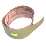 Guitar Strap 100% Leather - Green