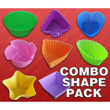 24 x Cupcake / Muffin Shapes - 8 Shapes