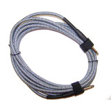 3m Guitar Patch Lead Cable - Plaid/Braided