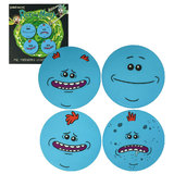 Adult Swim Rick And Morty Mr Meeseeks Coaster Set Of 4 - Collectible Coasters - New In Sealed Package