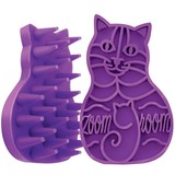 Kong Zoom Groom Rubber Brush - For Cats