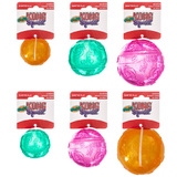 Kong Squeezz Crackle Ball No Squeak Toy for Dogs - Three Sizes