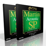 Twin Pack - Martin Acoustic Strings Extra Light Phosphor MSP4000