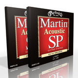 Twin Pack - Martin Acoustic Strings Light Bronze MSP3100