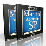 Twin Pack - Martin Acoustic Strings Medium 80/20 Bronze MSP3200