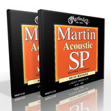 Twin Pack - Martin Acoustic Strings  Light/Medium 80/20 Bronze MSP3150
