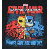 Funko POP! Marvel Collector Corps Captain America Civil War T-Shirt New In Package