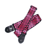 Guitar Strap by Perri's - Acoustic, Electric or Bass - Red Checkers