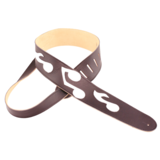 Perri's Guitar Strap 100% Leather - Music Notes