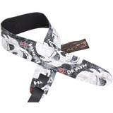 Perri's Guitar Strap 100% Leather - Screen Printed Death""""