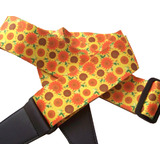 Strong, Striking  & Supple Guitar Strap - Sunflowers