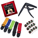 Guitarist Bargain Combo Pack - Strings, Capo, Strap & Picks