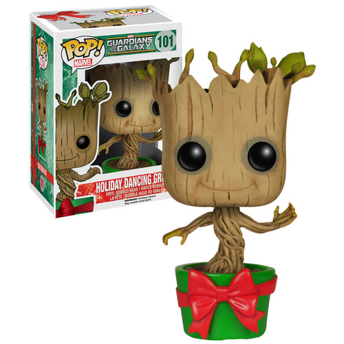 Funko POP! Marvel Guardians Of The Galaxy #101 Holiday Dancing Groot (Baby) - New, Mint Condition