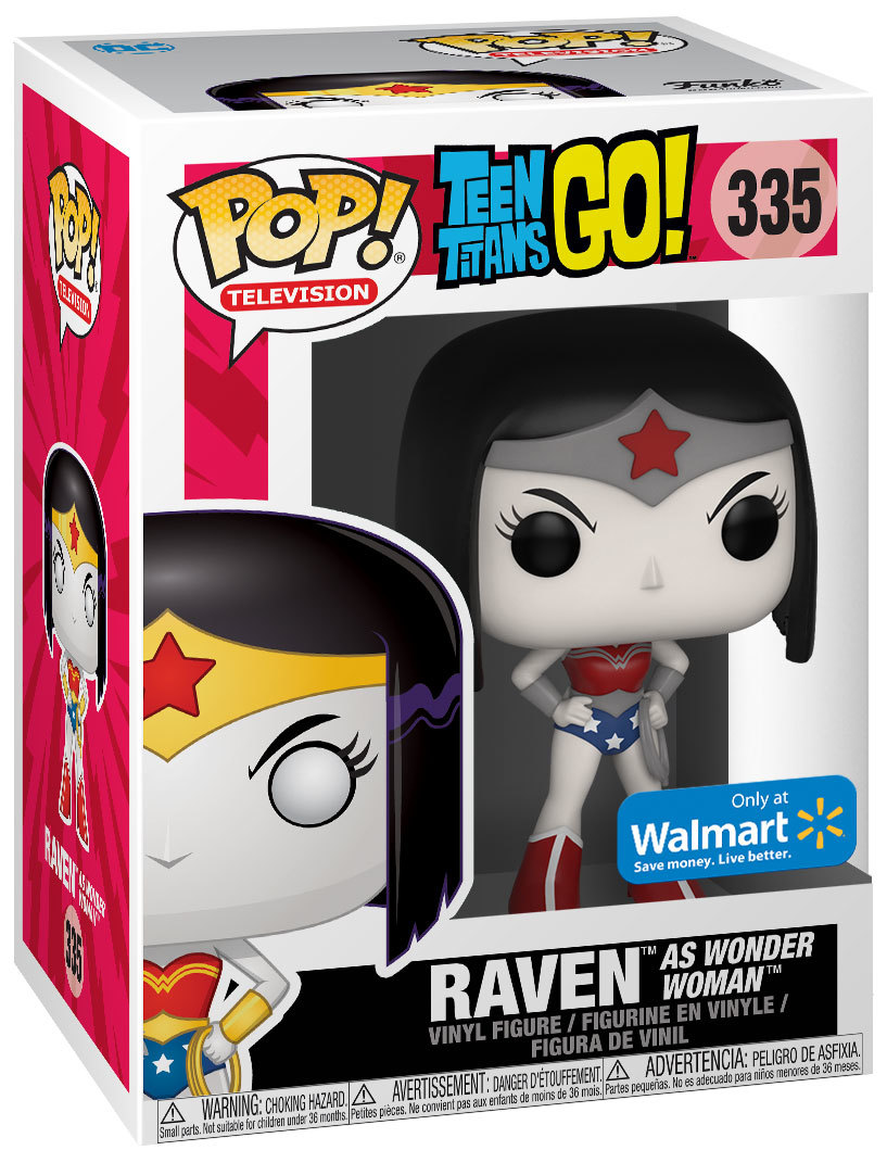 Vinyle Figurine Teen Titans Go Funko Corbeau comme Wonder Woman #335 Pop
