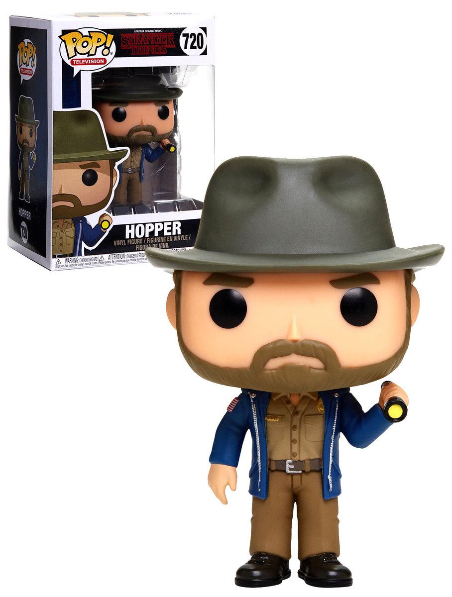 Funko POP TV IN STOCK Stranger Things: Hopper with Flashlight Figure #720