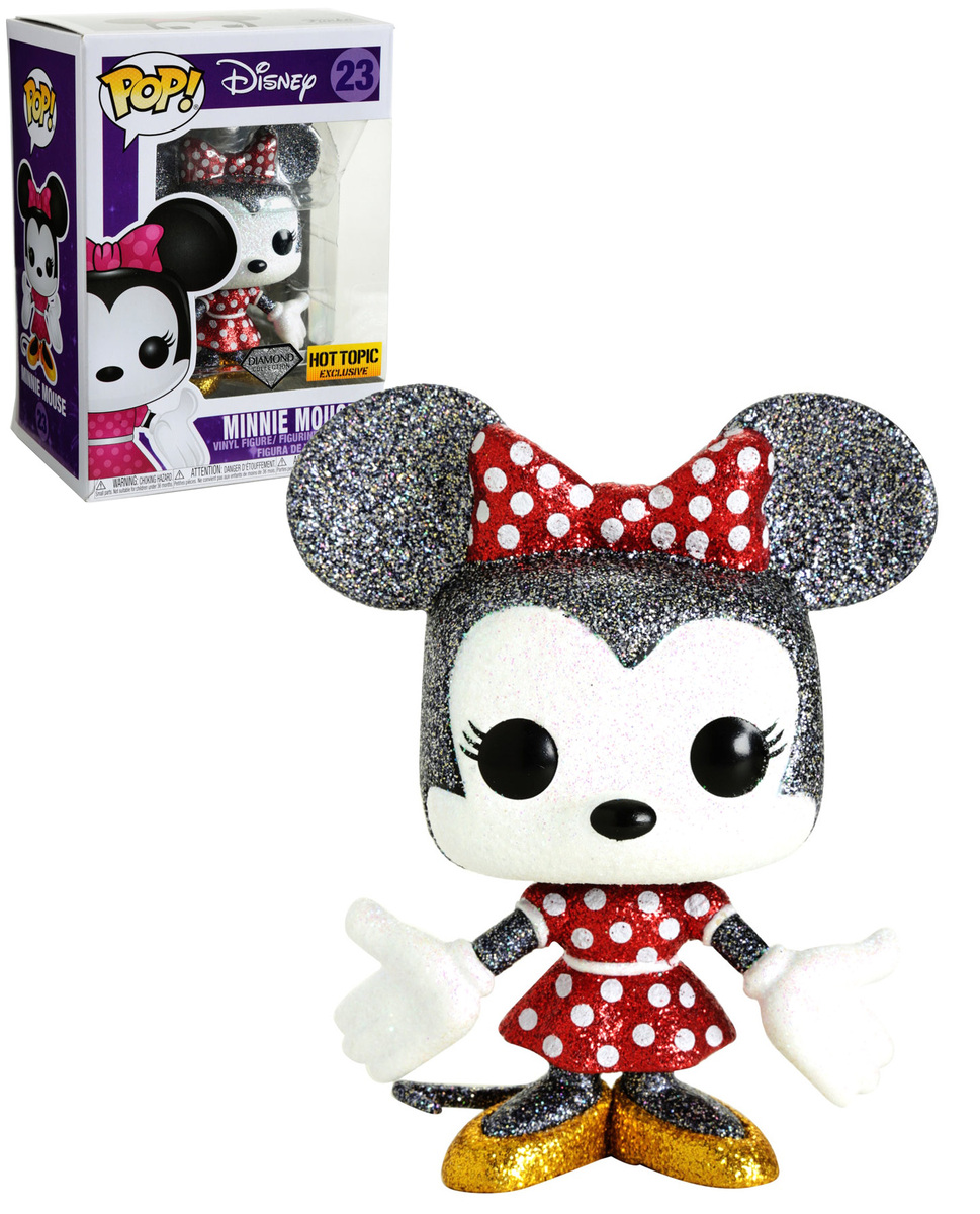 Hot Topic Exclusive Funko Pop Disney Minnie Mouse Diamond Collection #23