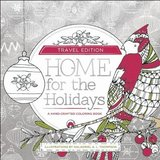 Home For The Holidays Adult Coloring Book - Travel Edition Paperback - New