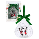 Mickey and Minnie Mouse Glass Drop Sketchbook Ornament 2019