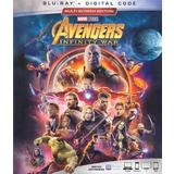 Avengers: Infinity War (Blu-Ray, Multi-region, 2018) Brand New, Including Digital Code