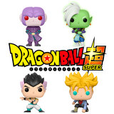 Funko POP! Animation Dragonball Super Exclusives Bundle (4 POPs) - New, Mint Condition