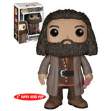 "Funko POP! Harry Potter #07 Rubeus Hagrid - 6"" Super Sized POP! - New, Mint Condition"