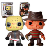 Funko POP! Movies #01 Jason Voorhees And #02 Freddy Krueger Horror Bundle - New, Mint Condition