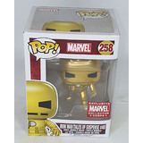 Funko POP! Marvel #258 Iron Man (Gold - Tales Of Suspense #40) - Collector Corps Exclusive - New, Box Damaged