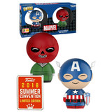 Funko Dorbz Marvel 2 Pack Captain America + Red Skull - Funko 2018 San Diego Comic Con (SDCC) Limited Edition - New, Mint Condition