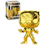 Funko POP! Marvel Studios The First Ten Years #383 Black Panther (Gold Chrome) - New, Mint Condition