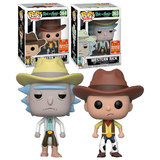 Funko POP! Animation Rick And Morty Western Bundle (2 POPs) - 2018 San Diego Comic Con (SDCC) Limited Edition - New, Mint Condition