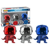 Funko POP! Heroes DC Superman (Chrome) 3 Pack - Funko 2018 New York Comic Con (NYCC) Limited Edition - New, Mint Condition
