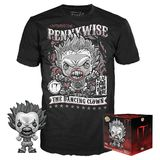 Funko POP! Collectors Box: #473 Pennywise With Teeth POP! (Black & White) & T-Shirt Set - Exclusive Import - New, Mint Condition [Size: Medium]