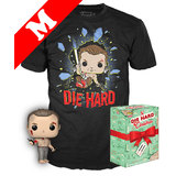 Funko Pop! Movies A Die Hard Christmas #672 John McClane (Shirtless) POP! & T-Shirt Box Set - Import, New [Size: Medium]
