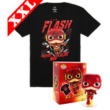Funko Pop! Tees #713 The Flash POP! Vinyl & T-Shirt Box Set - Exclusive Import - New, Mint [Size: XXL]