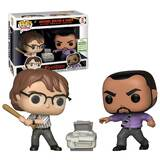 Funko POP! Movies Office Space Michael Bolton & Samir 2 Pack - 2019 Emerald City Comic Con (ECCC) Exclusive - New, Mint Condition