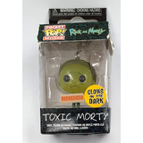 Funko POCKET POP! Keychain Rick And Morty Toxic Morty (Glows In The Dark) - Box Lunch Exclusive - New, Box Damage