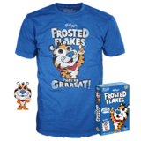 Funko POP! Tees Frosted Flakes T-Shirt + Pocket Pop! Tony The Tiger Bundle - Limited Edition - New, Mint Condition