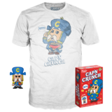 Funko POP! Tees Cap'n Crunch T-Shirt + Pocket Pop! Bundle - Limited Edition - New, Mint Condition
