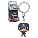 Funko Pocket POP! Marvel Avengers: Endgame Captain America Keychain - New, Mint Condition