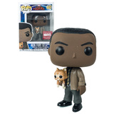 Funko POP! Marvel Captain Marvel #447 Nick Fury With Goose #3 - Collector Corps Exclusive - New, Slight Box Damage