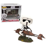 Funko POP! Deluxe Star Wars #234 Scout Trooper On Speederbike #1 - Smugglers Bounty Exclusive - New, Slight Box Damage