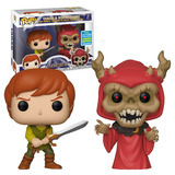 Funko POP! Disney The Black Cauldron 2 Pack Taran & Horned King - Funko 2019 San Diego Comic Con (SDCC) Limited Edition - New, Mint Condition
