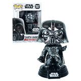 Funko POP! Star Wars #157 Darth Vader (Black Chrome) #1 - Smugglers Bounty Exclusive - New, Slight Box Damage