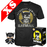 Funko Pop! Tees #270 DC Batman First Appearance POP! Vinyl & T-Shirt Box Set - Exclusive Import - New, Mint [Size: XS]