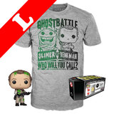 Funko Pop! Tees #744 Ghostbusters POP! Vinyl & T-Shirt Box Set - Venkman (Slimed) SDCC 2019 Exclusive [Size: Large]